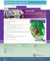The Activate CPD Website, designed by CDS Web Design based in Ross-on-Wye, Herefordshire