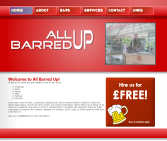 The All Barred Up Website designed by CDS Web Design based in Ross-on-Wye, Herefordshire