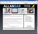 The Allan Gas website, designed by CDS Web Design based in Ross-on-Wye, Herefordshire