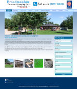 The Broadmeadow Caravan and Camping Park Website, designed by CDS Web Design based in Ross-on-Wye, Herefordshire