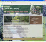 Elmsdale Camping and Caravan website, designed by CDS Web Design based in Ross-on-Wye, Herefordshire