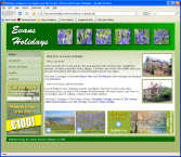 The Evans Holidays Website, designed by CDS Web Design based in Ross-on-Wye, Herefordshire