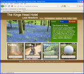 The Kings Head Hotel local tourist information website for Ross-on-Wye, The Wye Valley, The Forest of Dean and the surrounding areas, designed by CDS Web Design based in Ross-on-Wye, Herefordshire