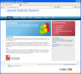 Learning Disability Research website, designed by CDS Web Design based in Ross-on-Wye, Herefordshire