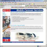 The Mobile Caravan Servicing Website, designed by CDS Web Design based in Ross-on-Wye, Herefordshire