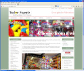 The Tudor Sweets Website, designed by CDS Web Design based in Ross-on-Wye, Herefordshire