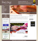 The Kings Head Hotel website designed by CDS Web Design